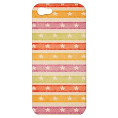 Watercolor Stripes Background With Stars Apple iPhone 5 Hardshell Case