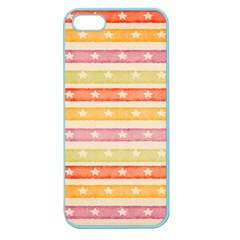 Watercolor Stripes Background With Stars Apple Seamless iPhone 5 Case (Color)