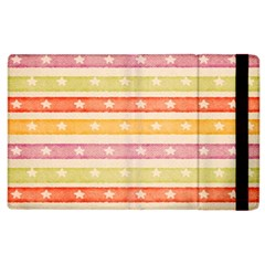 Watercolor Stripes Background With Stars Apple iPad 3/4 Flip Case