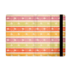 Watercolor Stripes Background With Stars Apple iPad Mini Flip Case