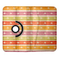 Watercolor Stripes Background With Stars Samsung Galaxy Note II Flip 360 Case