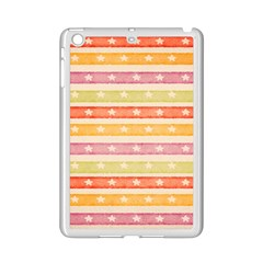Watercolor Stripes Background With Stars iPad Mini 2 Enamel Coated Cases