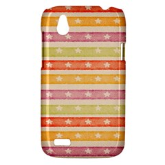 Watercolor Stripes Background With Stars HTC Desire V (T328W) Hardshell Case