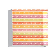 Watercolor Stripes Background With Stars 4 x 4  Acrylic Photo Blocks