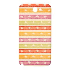 Watercolor Stripes Background With Stars Samsung Note 2 N7100 Hardshell Back Case