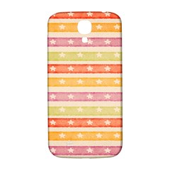 Watercolor Stripes Background With Stars Samsung Galaxy S4 I9500/I9505  Hardshell Back Case