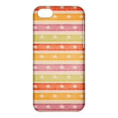 Watercolor Stripes Background With Stars Apple iPhone 5C Hardshell Case