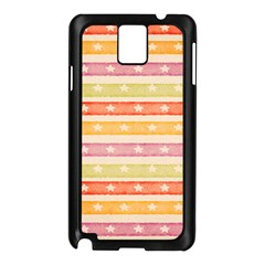 Watercolor Stripes Background With Stars Samsung Galaxy Note 3 N9005 Case (Black)