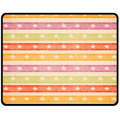 Watercolor Stripes Background With Stars Double Sided Fleece Blanket (Medium)