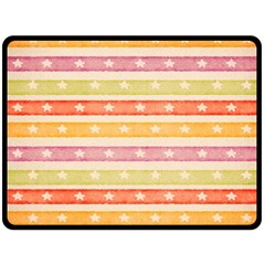 Watercolor Stripes Background With Stars Double Sided Fleece Blanket (Large)
