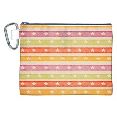 Watercolor Stripes Background With Stars Canvas Cosmetic Bag (XXL)