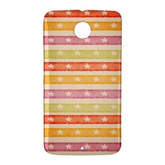 Watercolor Stripes Background With Stars Nexus 6 Case (White)