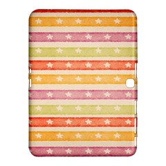 Watercolor Stripes Background With Stars Samsung Galaxy Tab 4 (10.1 ) Hardshell Case