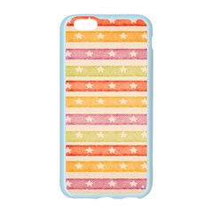 Watercolor Stripes Background With Stars Apple Seamless iPhone 6/6S Case (Color)