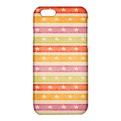 Watercolor Stripes Background With Stars iPhone 6/6S TPU Case