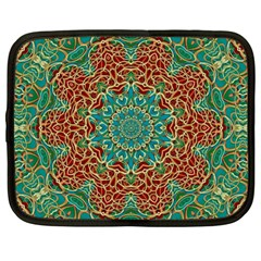 The Wooden Heart Mandala,giving Calm Netbook Case (Large)