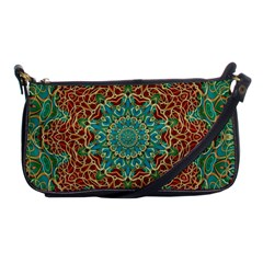 The Wooden Heart Mandala,giving Calm Shoulder Clutch Bags