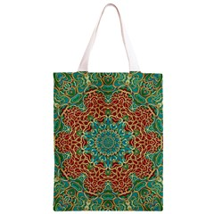 The Wooden Heart Mandala,giving Calm Classic Light Tote Bag