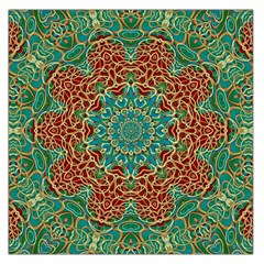 The Wooden Heart Mandala,giving Calm Large Satin Scarf (square)