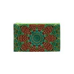 The Wooden Heart Mandala,giving Calm Cosmetic Bag (XS)