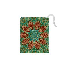 The Wooden Heart Mandala,giving Calm Drawstring Pouches (xs)