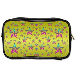Flower Power Stars Toiletries Bags 2-Side