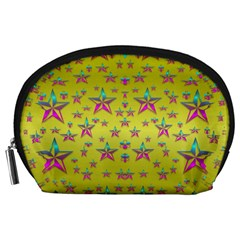 Flower Power Stars Accessory Pouches (large)