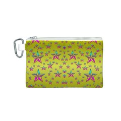 Flower Power Stars Canvas Cosmetic Bag (S)
