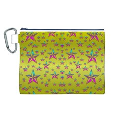 Flower Power Stars Canvas Cosmetic Bag (L)