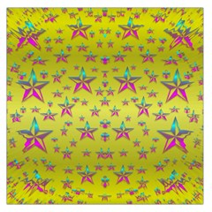 Flower Power Stars Large Satin Scarf (Square)