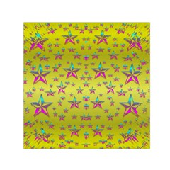 Flower Power Stars Small Satin Scarf (Square)