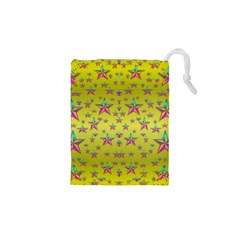 Flower Power Stars Drawstring Pouches (xs)