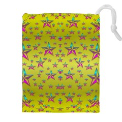 Flower Power Stars Drawstring Pouches (xxl)