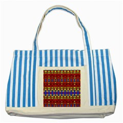 Egypt Star Striped Blue Tote Bag