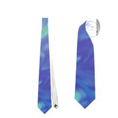Green Blue Pink Color Splash Neckties (One Side)
