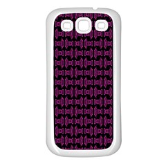 Pink Black Retro Tiki Pattern Samsung Galaxy S3 Back Case (White)