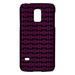Pink Black Retro Tiki Pattern Galaxy S5 Mini