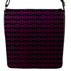 Pink Black Retro Tiki Pattern Flap Messenger Bag (S)