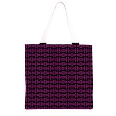 Pink Black Retro Tiki Pattern Grocery Light Tote Bag