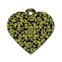 Modern Abstract Interlace Dog Tag Heart (Two Sides)