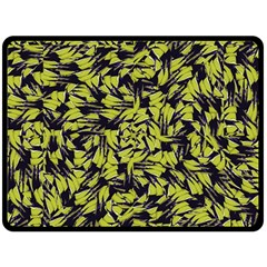 Modern Abstract Interlace Fleece Blanket (Large)