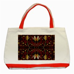 Fantasy Flowers And Leather In A World Of Harmony Classic Tote Bag (Red)