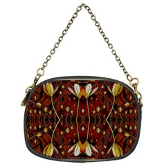 Fantasy Flowers And Leather In A World Of Harmony Chain Purses (Two Sides)