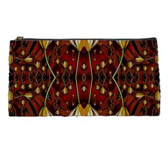 Fantasy Flowers And Leather In A World Of Harmony Pencil Cases