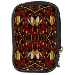 Fantasy Flowers And Leather In A World Of Harmony Compact Camera Cases