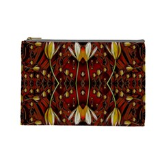 Fantasy Flowers And Leather In A World Of Harmony Cosmetic Bag (Large)