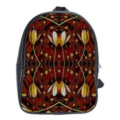 Fantasy Flowers And Leather In A World Of Harmony School Bags(Large)