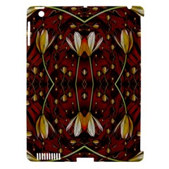 Fantasy Flowers And Leather In A World Of Harmony Apple Ipad 3/4 Hardshell Case (compatible With Smart Cover)