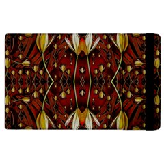 Fantasy Flowers And Leather In A World Of Harmony Apple iPad 2 Flip Case