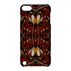 Fantasy Flowers And Leather In A World Of Harmony Apple iPod Touch 5 Hardshell Case with Stand